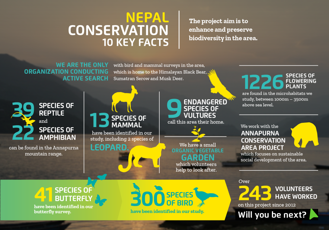 Interesting facts about conservation volunteering in Nepal with projects abroad